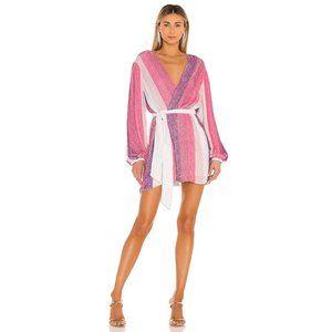 retrofete Gabrielle Dress in Multi Pink Stripe